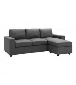 Καναπές γωνία υφασμάτινος γκρι