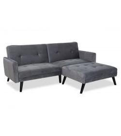 Γωνιακός καναπές-κρεβάτι με σκαμπώ 209x87x80-195εκ