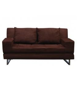 Καναπές κρεβάτι υφασμάτινος σκούρο καφέ