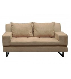Καναπές κρεβάτι υφασμάτινος ανοιχτό καφέ