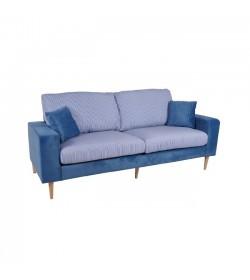 DOLCE καναπές 3θέσιος Microfiber Μπλε